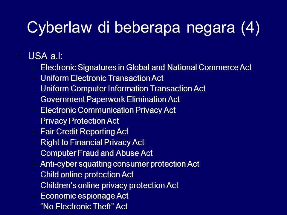 Cyberlaw di beberapa negara (4)