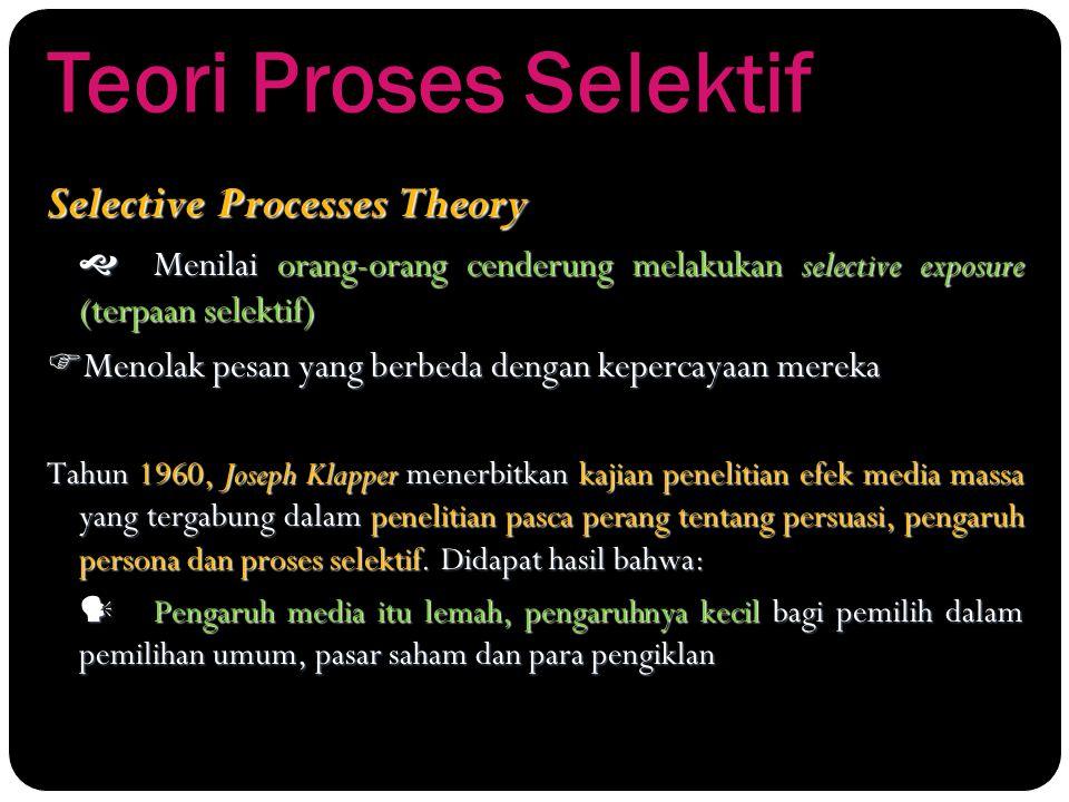 Teori Proses Selektif Selective Processes Theory