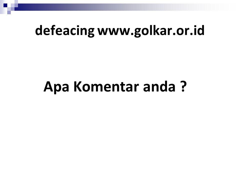 defeacing www.golkar.or.id