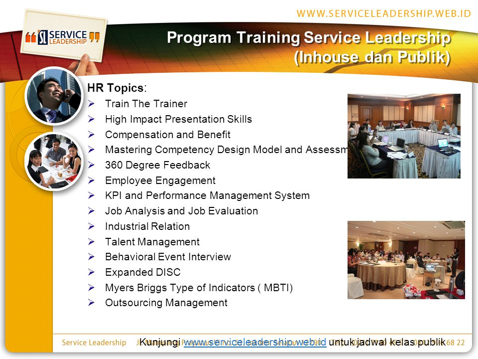 Program Training Service Leadership (Inhouse dan Publik)