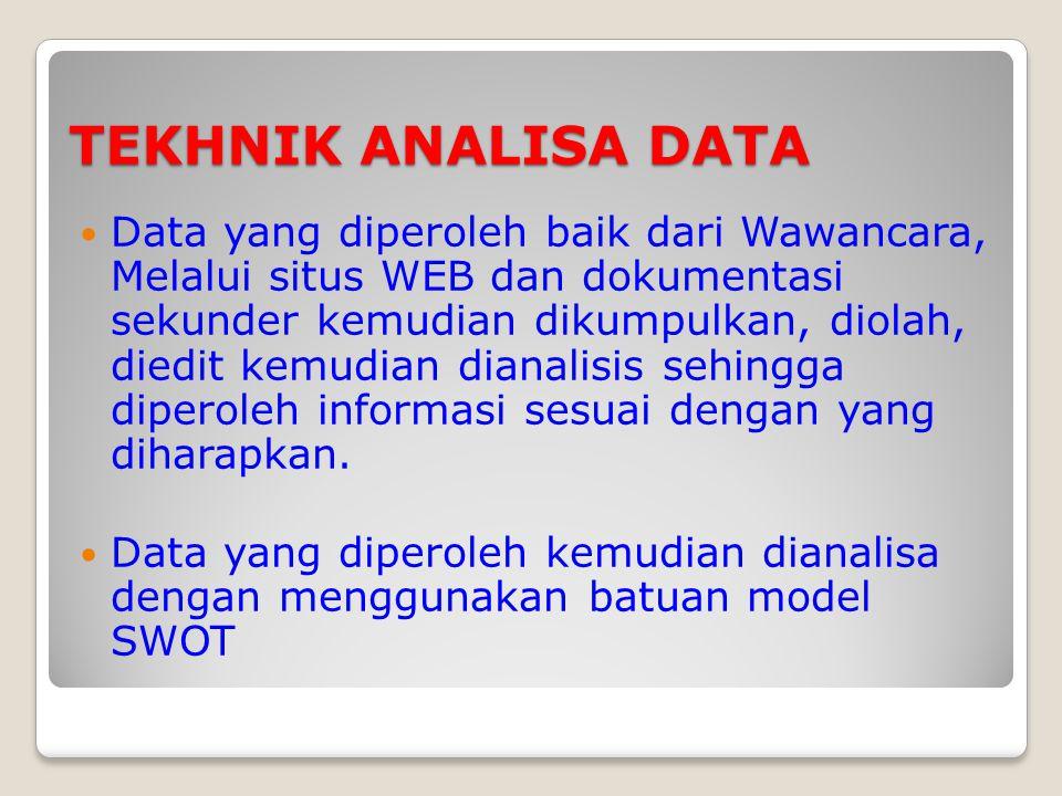 TEKHNIK ANALISA DATA