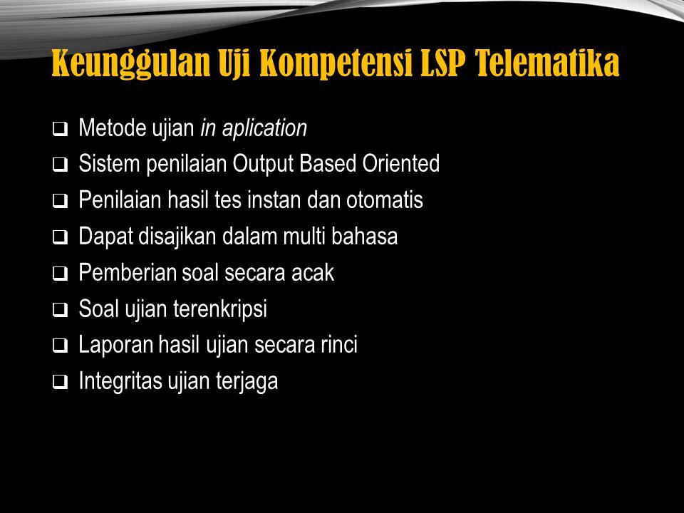 Keunggulan Uji Kompetensi LSP Telematika