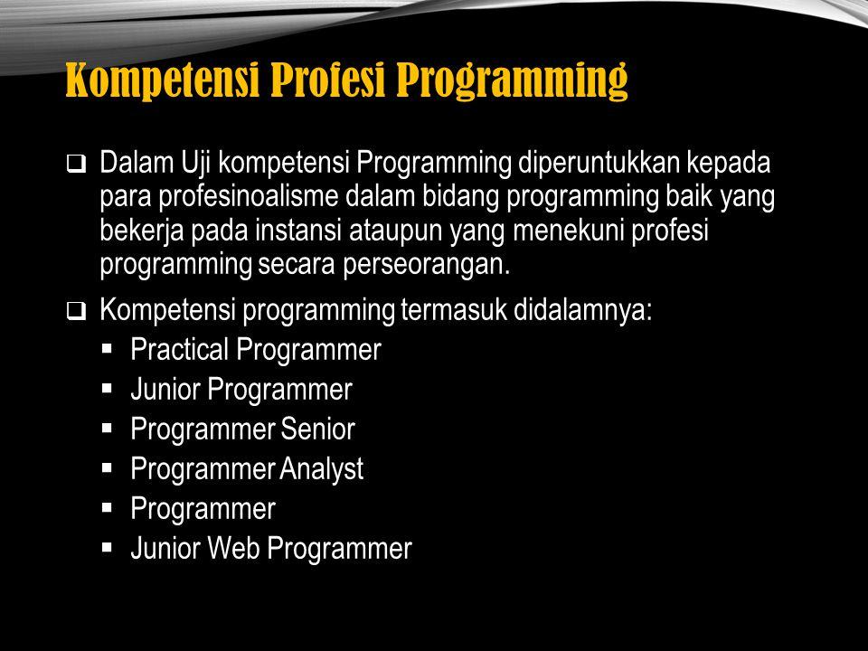 Kompetensi Profesi Programming