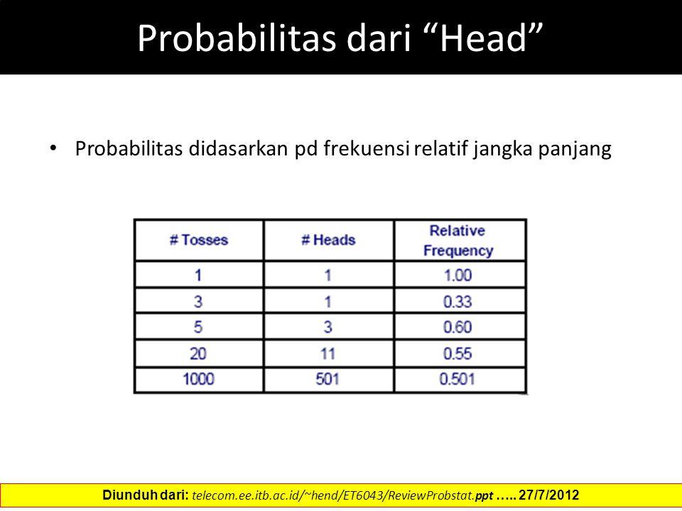 Probabilitas dari Head