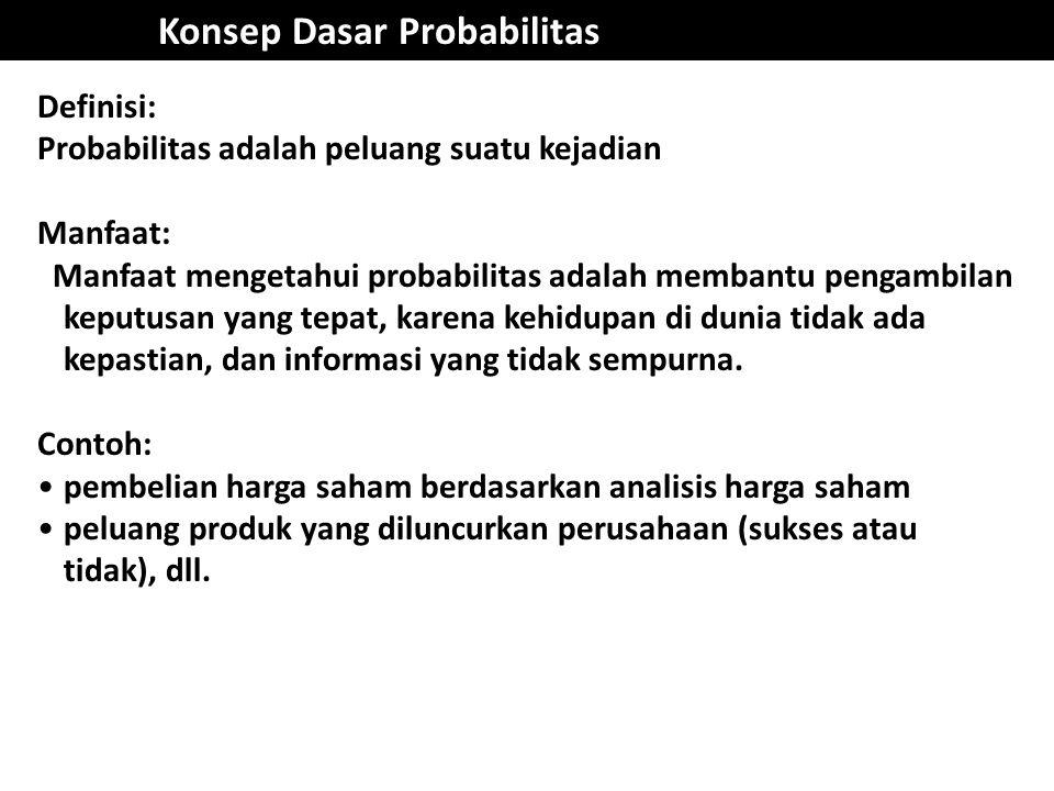 Konsep Dasar Probabilitas