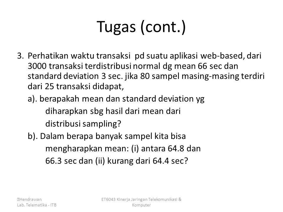 ET6043 Kinerja Jaringan Telekomunikasi & Komputer