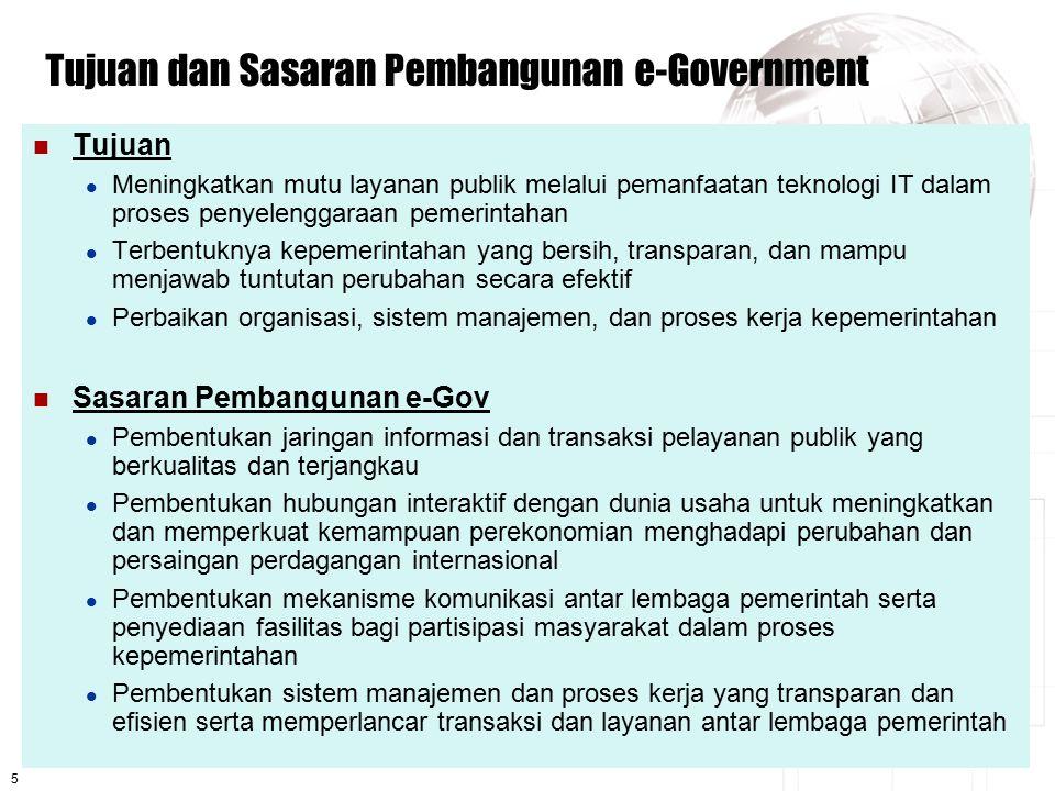 Tujuan dan Sasaran Pembangunan e-Government