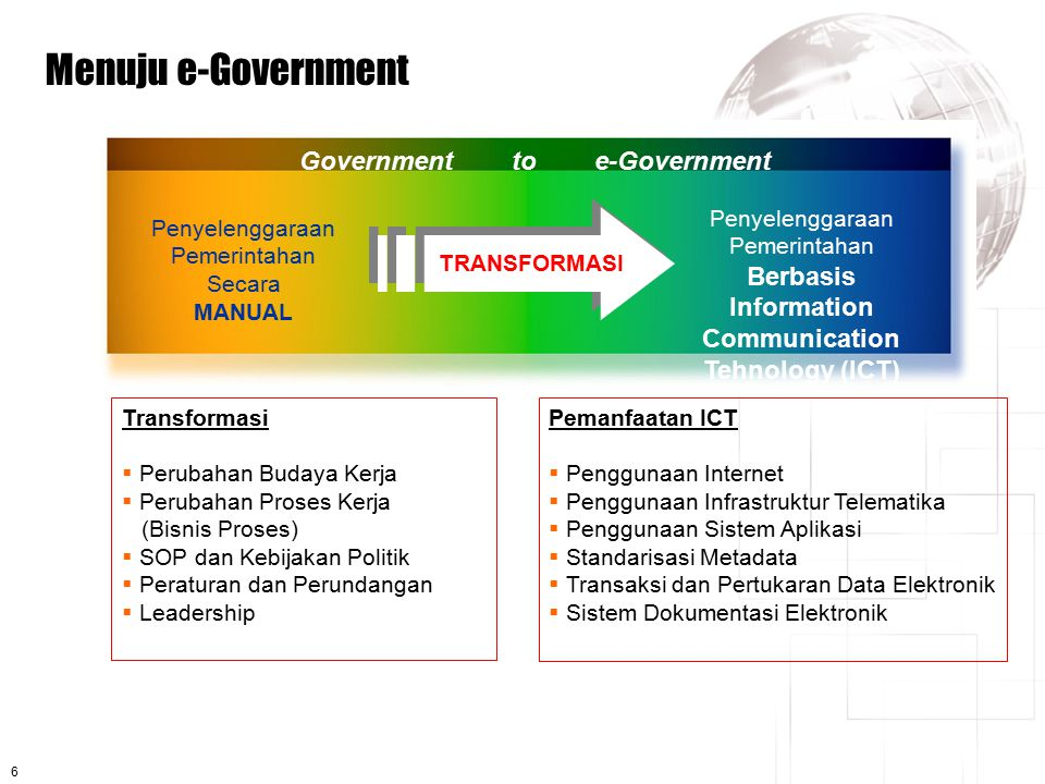 Government to e-Government