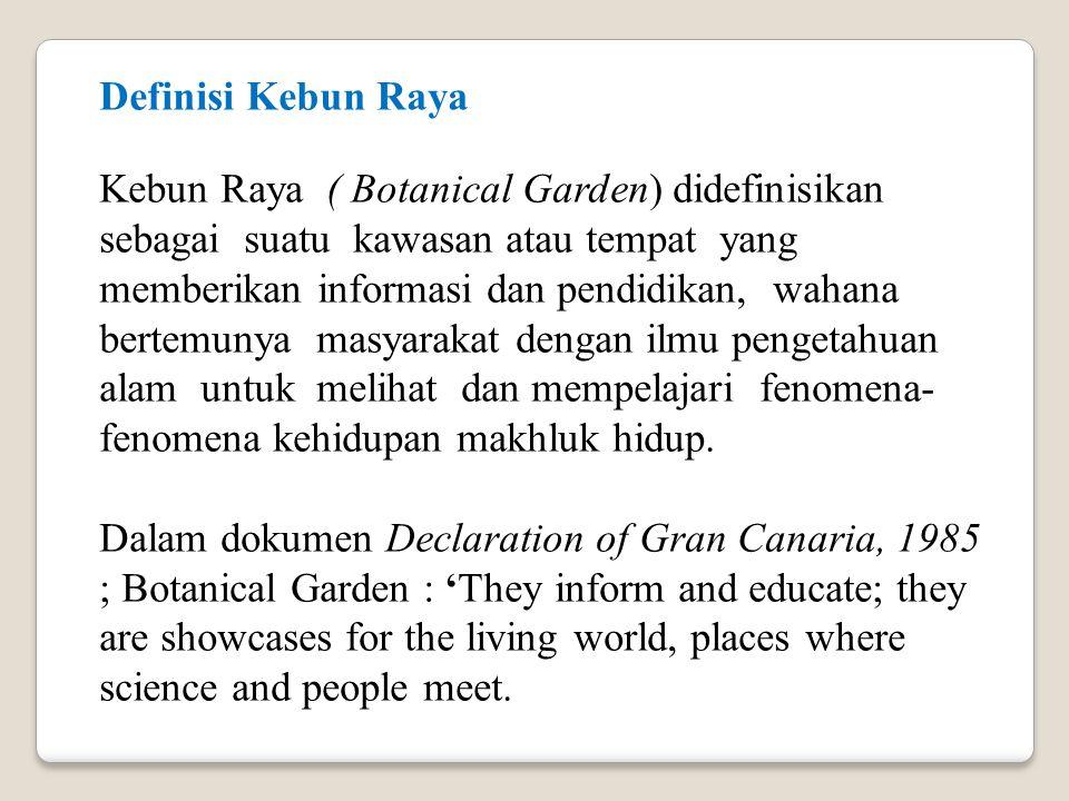 Definisi Kebun Raya