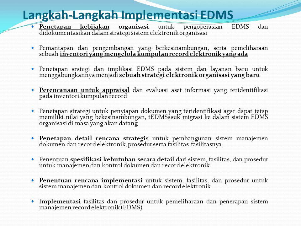 Langkah-Langkah Implementasi EDMS