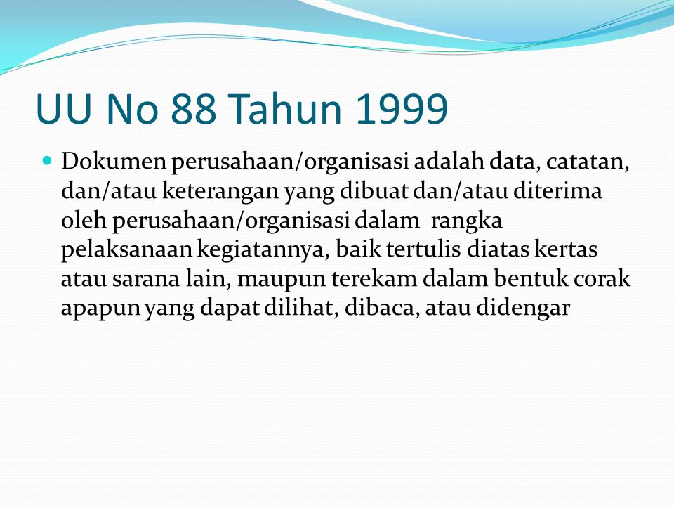 UU No 88 Tahun 1999