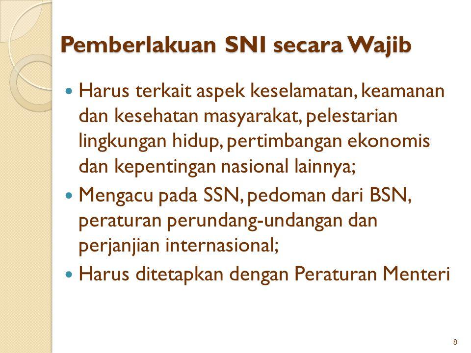 Pemberlakuan SNI secara Wajib