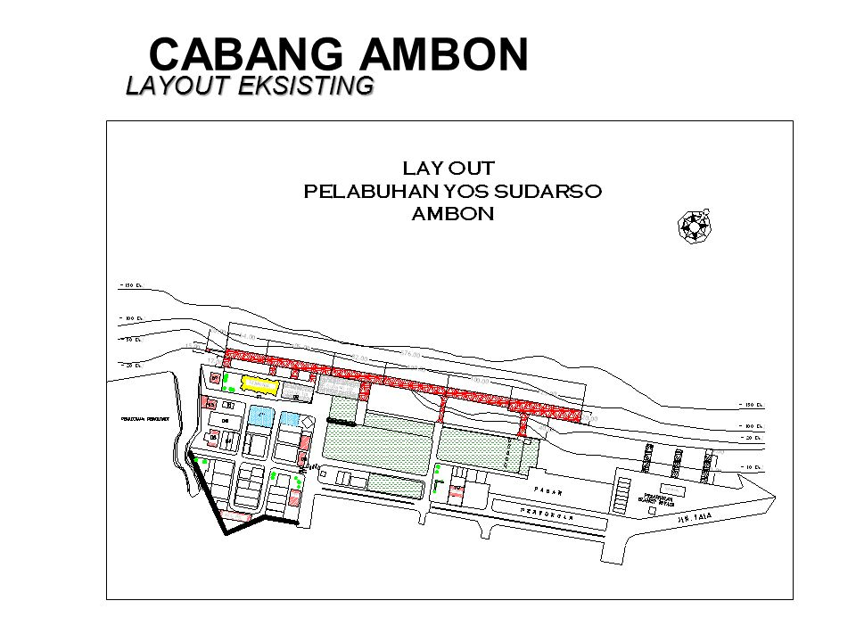 CABANG AMBON LAYOUT EKSISTING