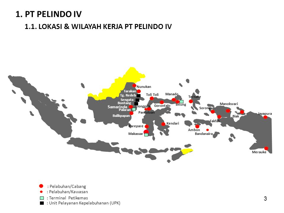 1. PT PELINDO IV 1.1. LOKASI & WILAYAH KERJA PT PELINDO IV