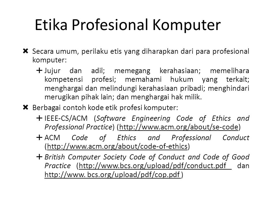 Etika Profesional Komputer