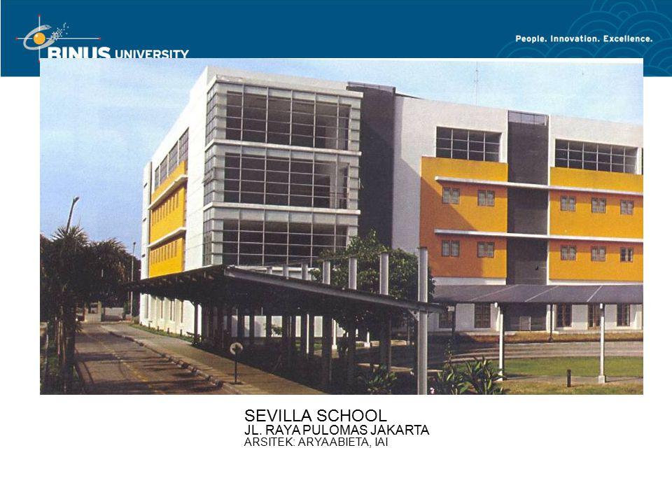 SEVILLA SCHOOL JL. RAYA PULOMAS JAKARTA ARSITEK: ARYA ABIETA, IAI