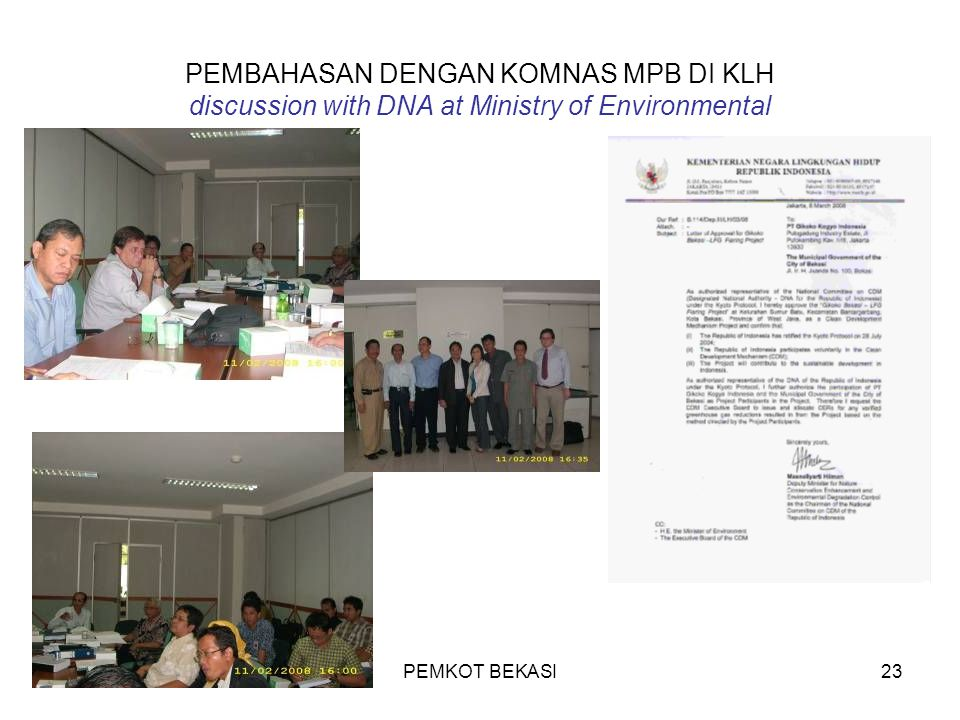 PEMBAHASAN DENGAN KOMNAS MPB DI KLH discussion with DNA at Ministry of Environmental
