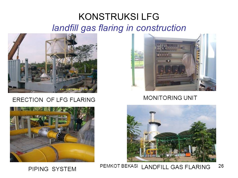 KONSTRUKSI LFG landfill gas flaring in construction