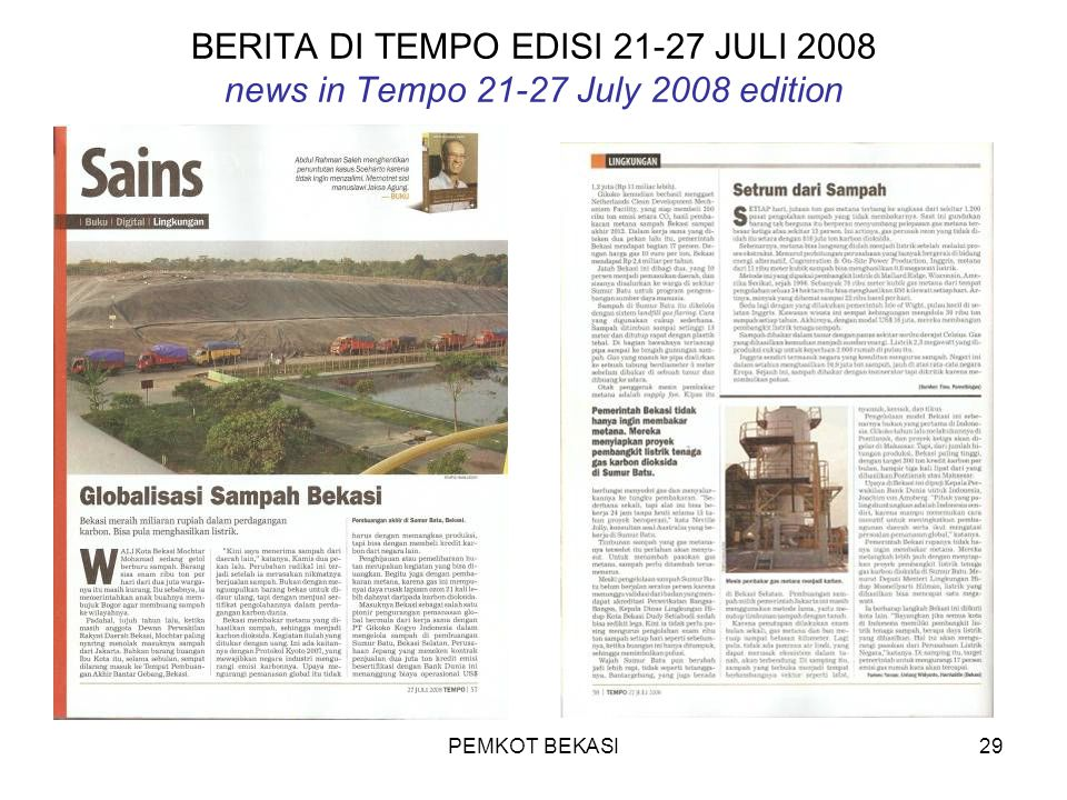 BERITA DI TEMPO EDISI 21-27 JULI 2008 news in Tempo 21-27 July 2008 edition