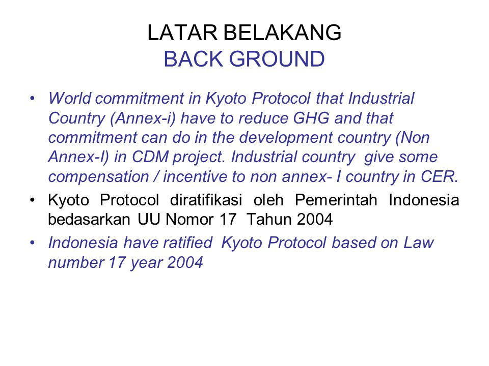LATAR BELAKANG BACK GROUND