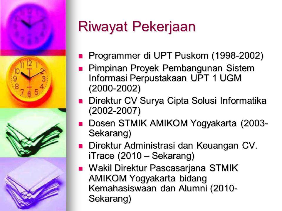 Riwayat Pekerjaan Programmer di UPT Puskom (1998-2002)