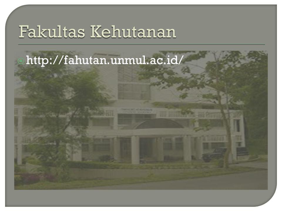 Fakultas Kehutanan http://fahutan.unmul.ac.id/