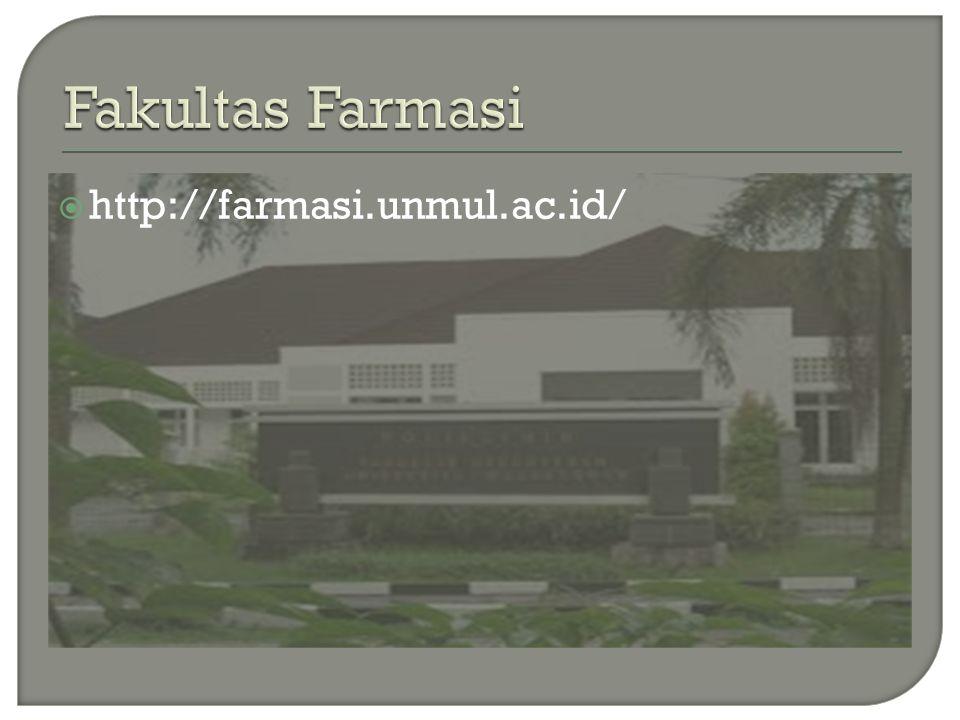 Fakultas Farmasi http://farmasi.unmul.ac.id/