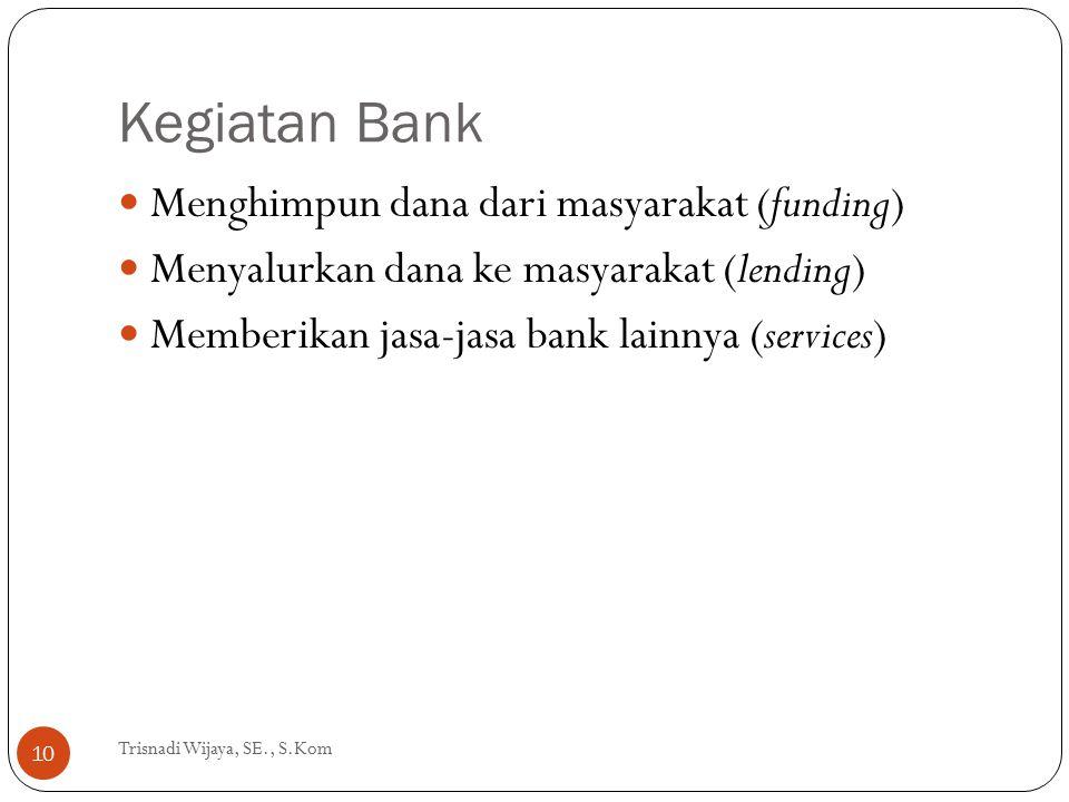 Kegiatan Bank Menghimpun dana dari masyarakat (funding)