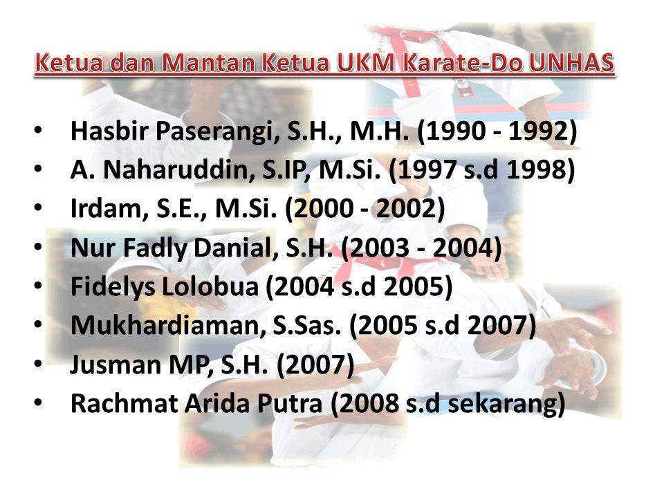 Ketua dan Mantan Ketua UKM Karate-Do UNHAS