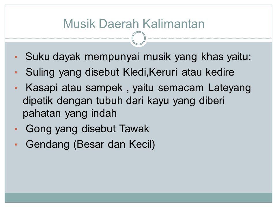 Musik Daerah Kalimantan