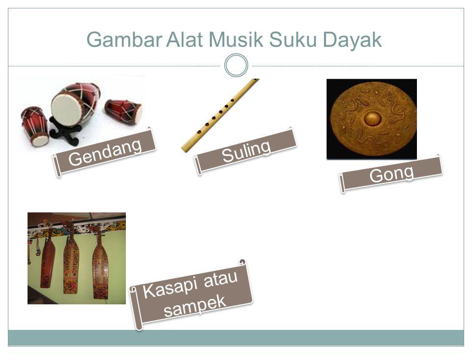 Gambar Alat Musik Suku Dayak