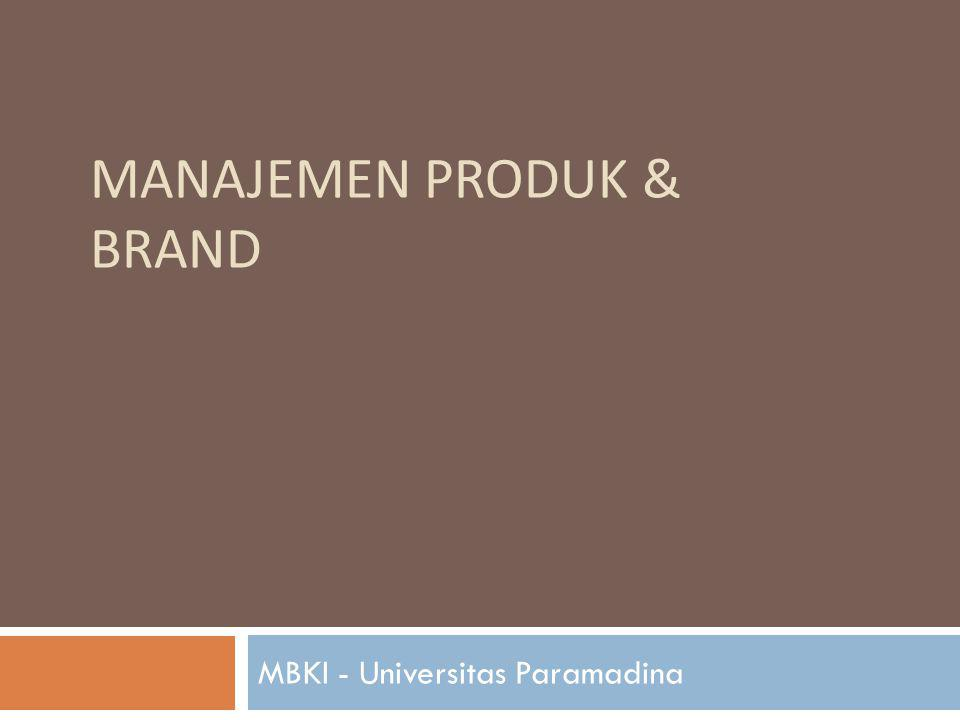 Manajemen Produk & Brand