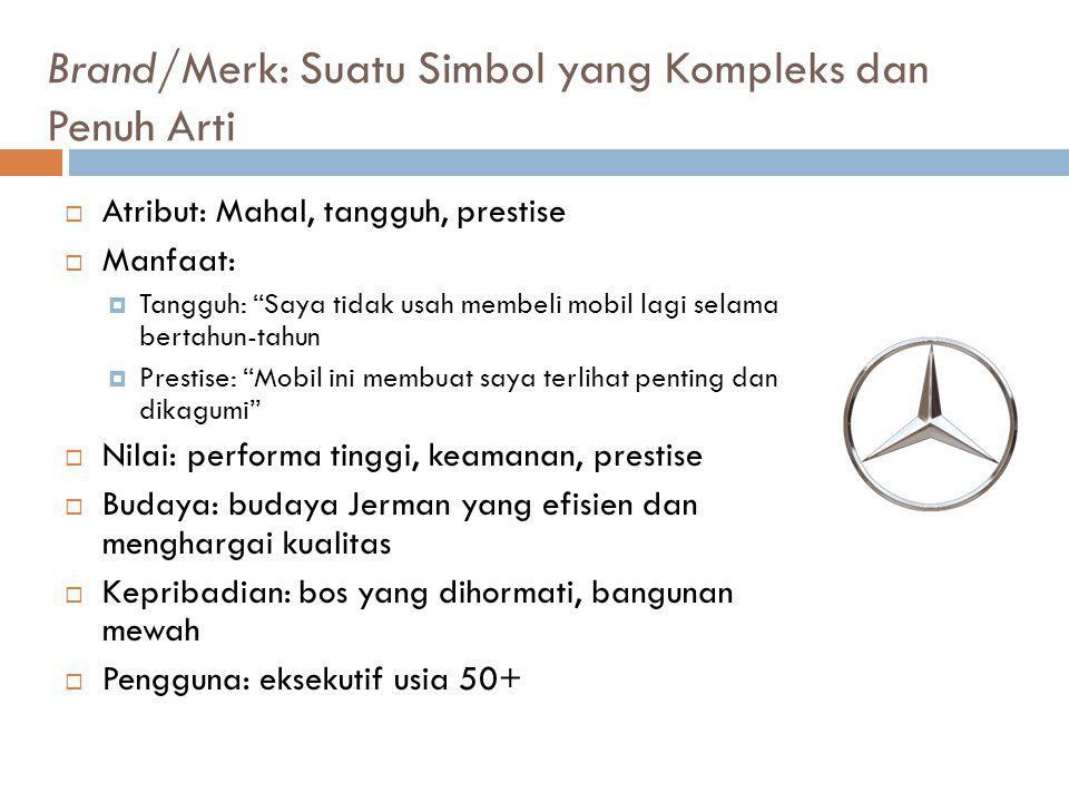 Brand/Merk: Suatu Simbol yang Kompleks dan Penuh Arti