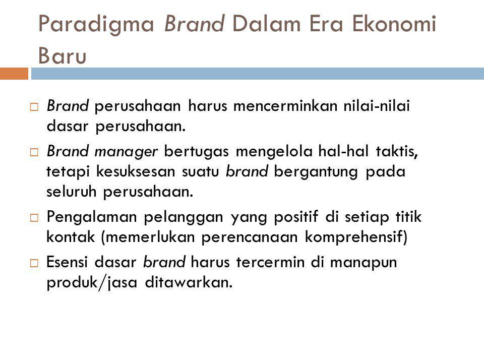 Paradigma Brand Dalam Era Ekonomi Baru