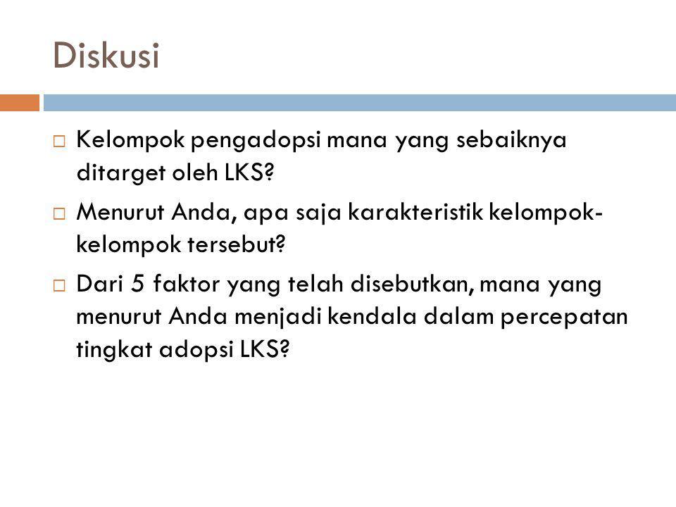 Diskusi Kelompok pengadopsi mana yang sebaiknya ditarget oleh LKS