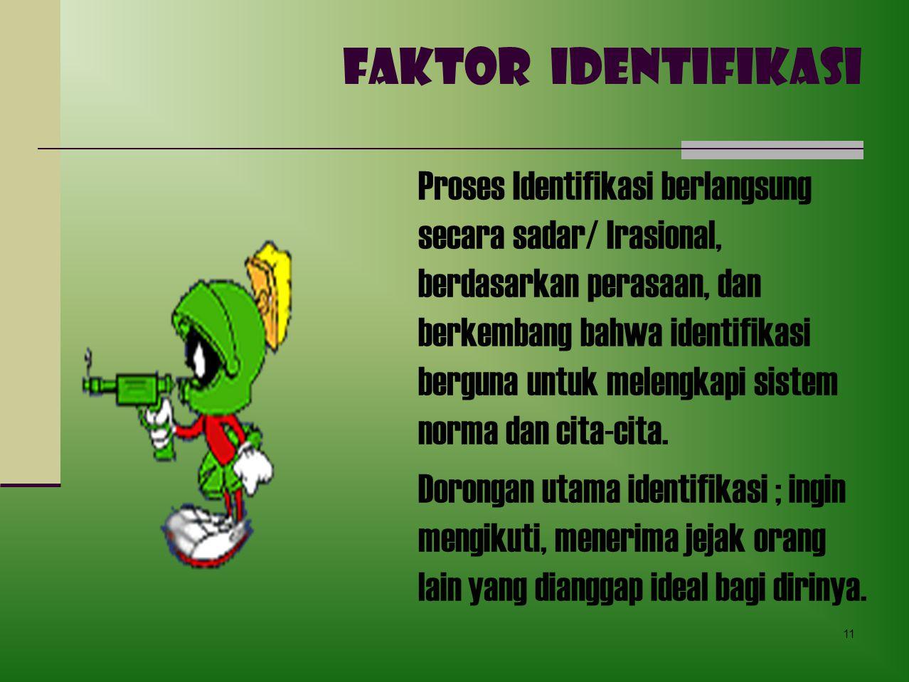 FAKTOR IDENTIFIKASI