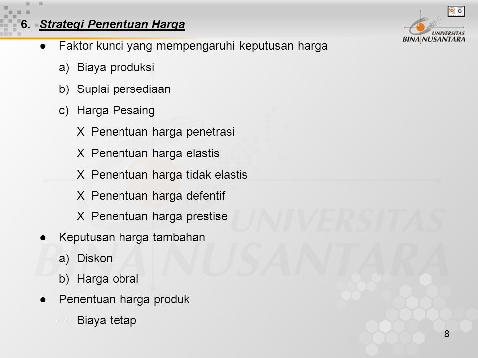 6. Strategi Penentuan Harga