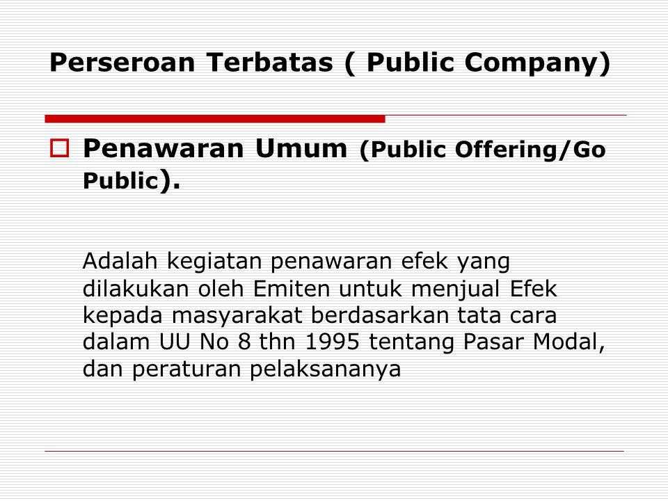 Perseroan Terbatas ( Public Company)
