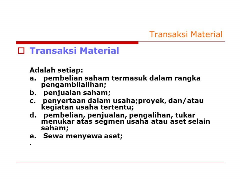 Transaksi Material Transaksi Material