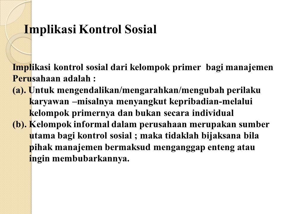Implikasi Kontrol Sosial