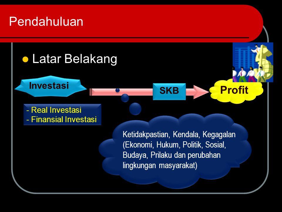 Pendahuluan Latar Belakang Profit Investasi SKB
