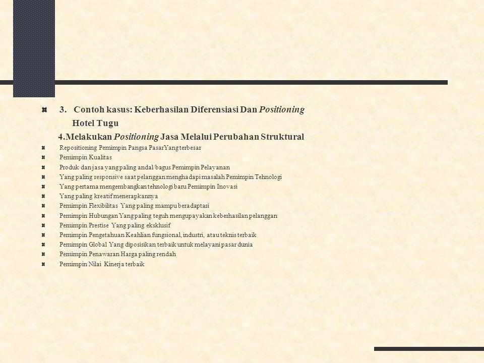 3. Contoh kasus: Keberhasilan Diferensiasi Dan Positioning Hotel Tugu