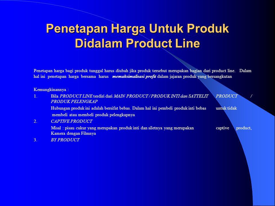 Penetapan Harga Untuk Produk Didalam Product Line