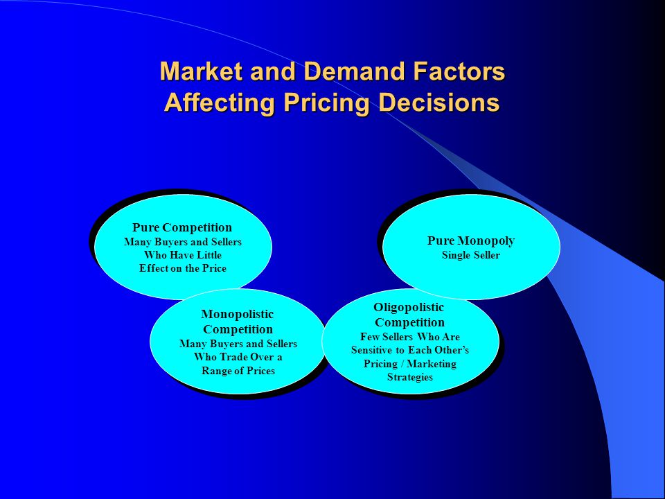 Market and Demand Factors Affecting Pricing Decisions