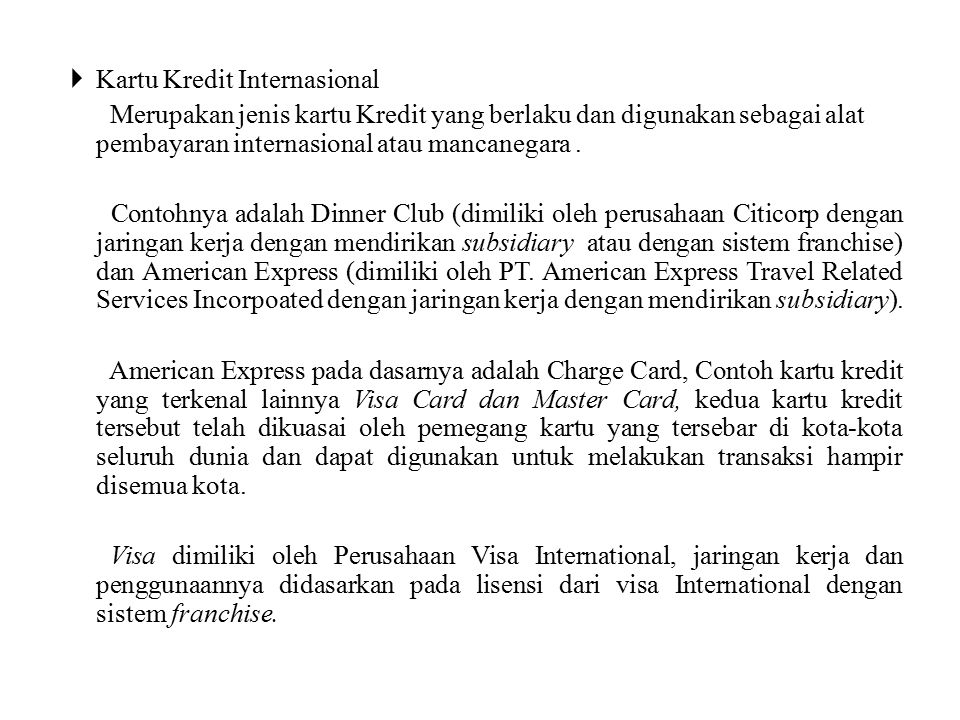 Kartu Kredit Internasional