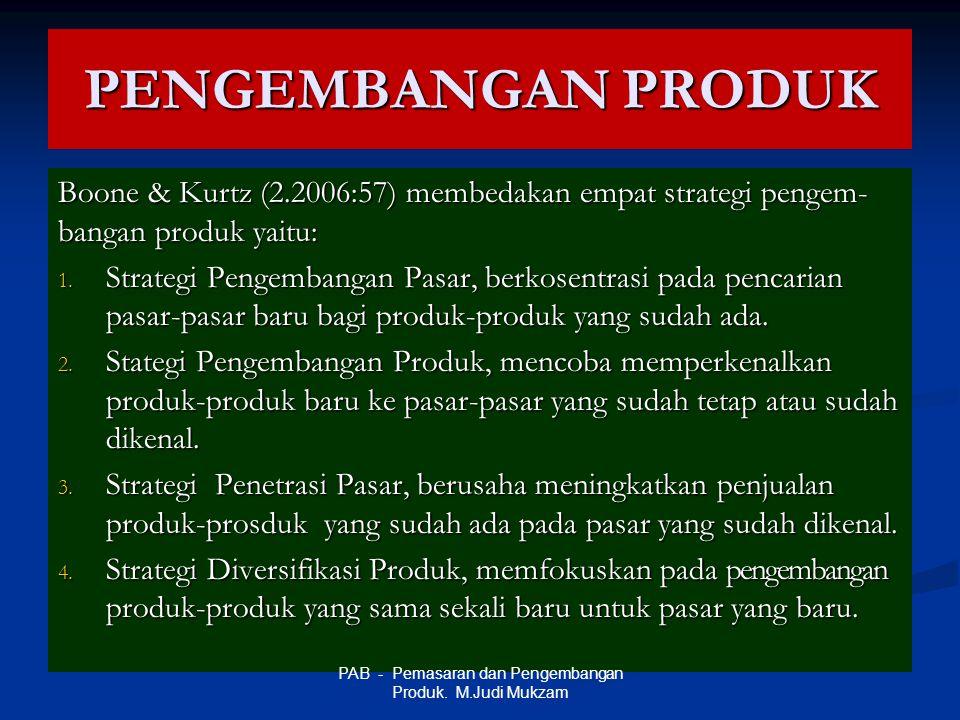 PAB - Pemasaran dan Pengembangan Produk. M.Judi Mukzam