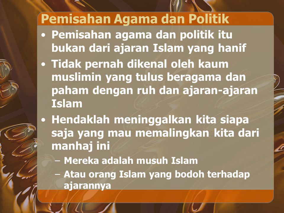 Pemisahan Agama dan Politik