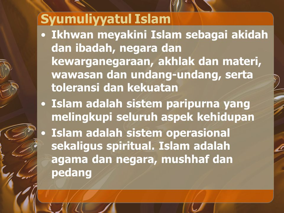 Syumuliyyatul Islam
