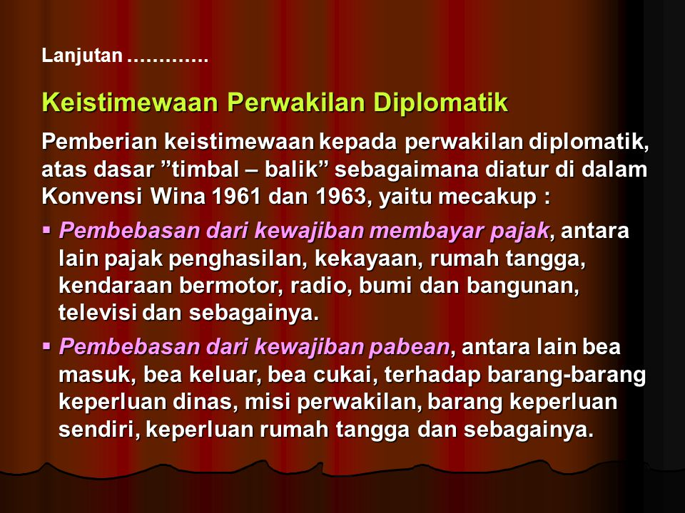 Keistimewaan Perwakilan Diplomatik