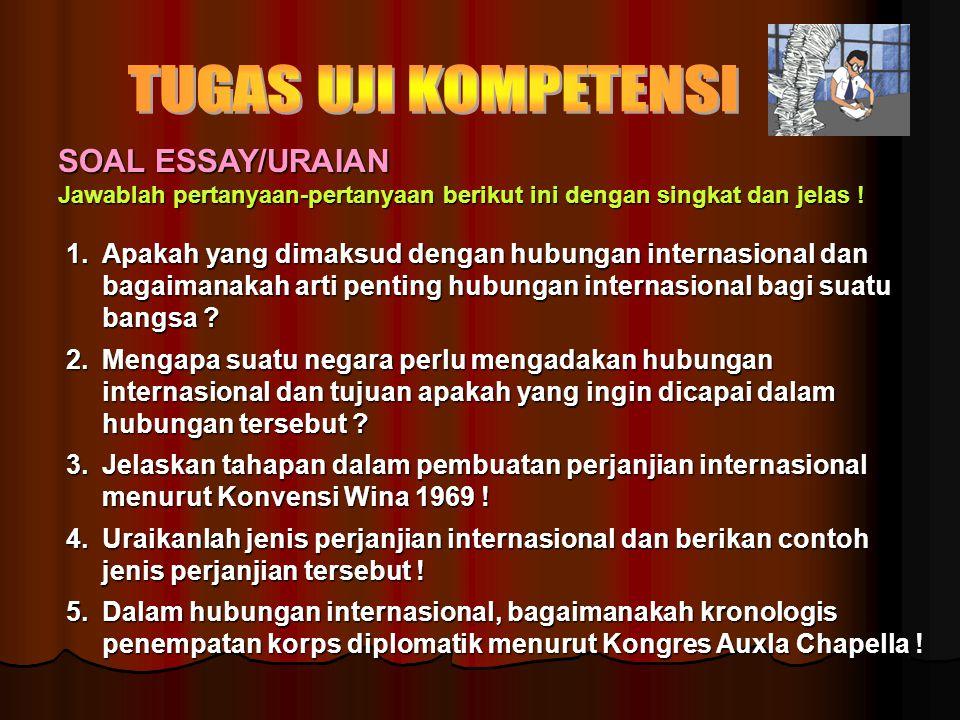 TUGAS UJI KOMPETENSI SOAL ESSAY/URAIAN